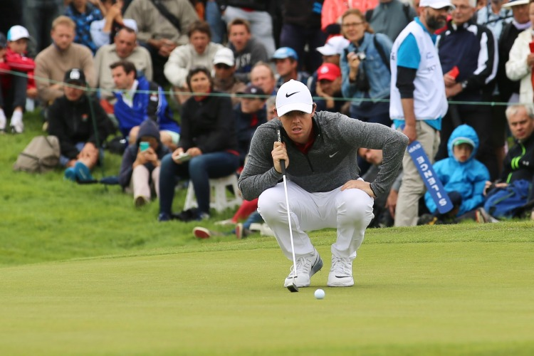 Rory McIlroy playing at the French Open