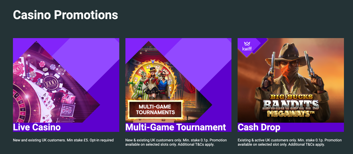 Kwiff Casino Promotions