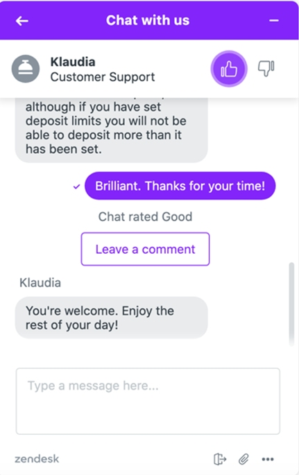 Kwiff Chat messages