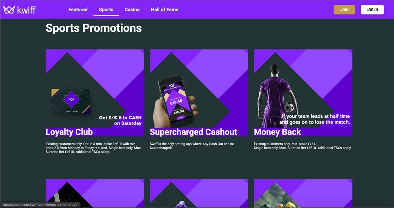 Kwiff Sports Page