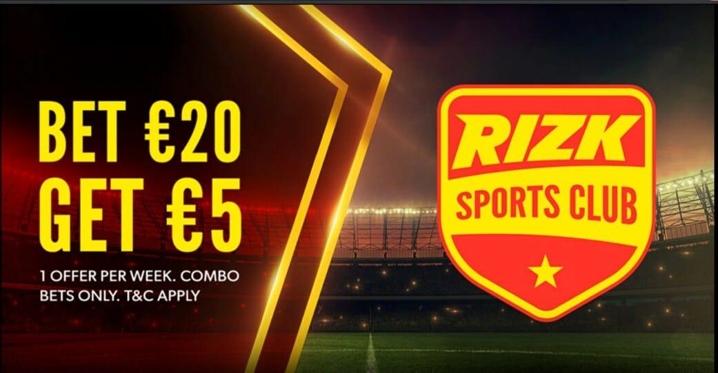 Rizk sportsbook promotion screenshot