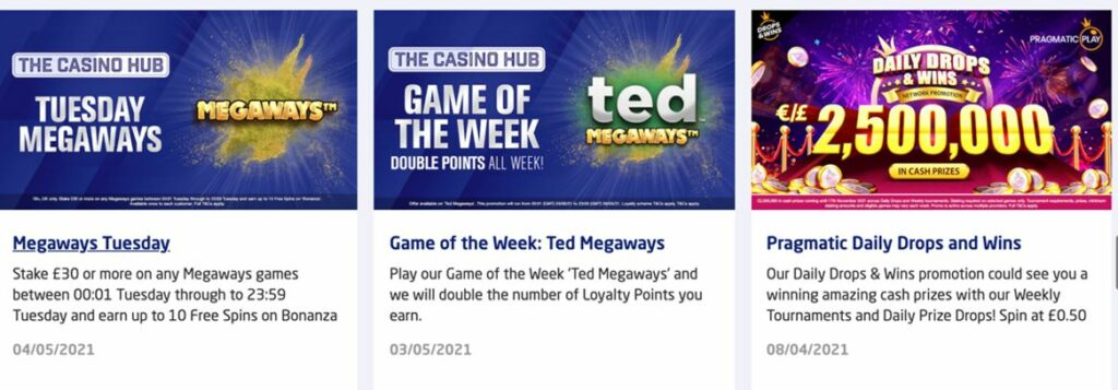 The Football Pools casino promotions