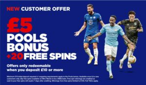 The Football Pools welcome offer