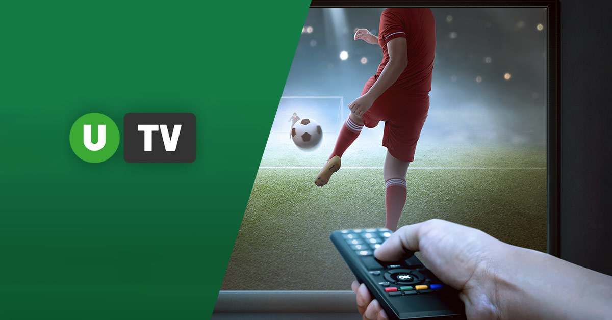 Unibet TV logo along with an image of a football match showing on tv