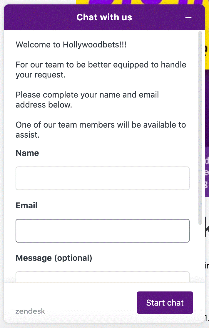 HollywoodBets Chat 1
