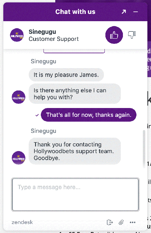 HollywoodBets Chat 3