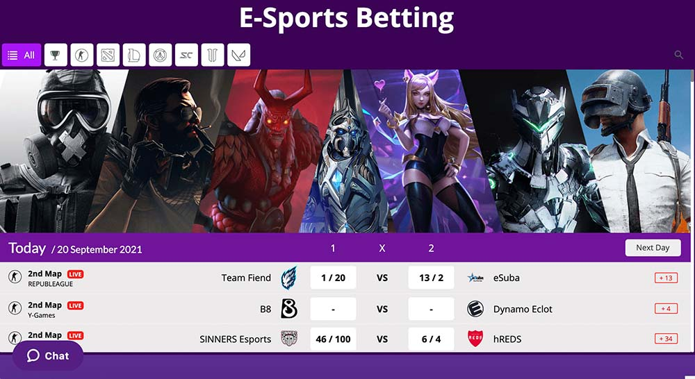 HollywoodBets E-Sports Betting