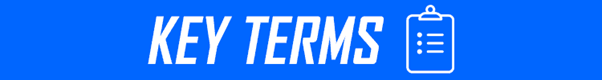 Key Terms on blue background