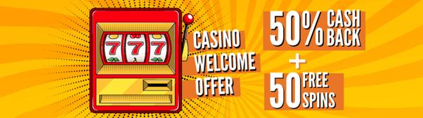 Penawaran Sambutan Kasino Quinnbet - cashback 50% + 50 Putaran Gratis