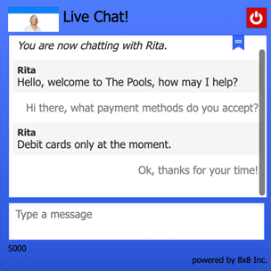 the pools live chat